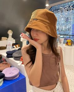 Korean Girl Fashion, Ulzzang Girl, Actors & Actresses, Bucket Hat, Thailand, Winter Hats, My Style, Outfits, Clothes