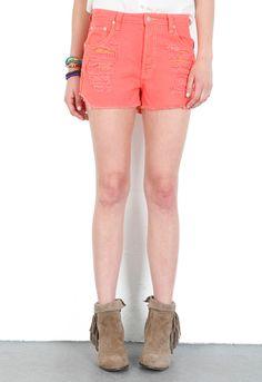 MINKPINK Slasher Flick Shorts in Sherbert $71