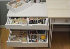 This wonderful combo pack of drawer caddies will help you save money on your favorite organizers! These Caddies are designed to work perfectly in the Alex drawer units by Ikea and can store a variety