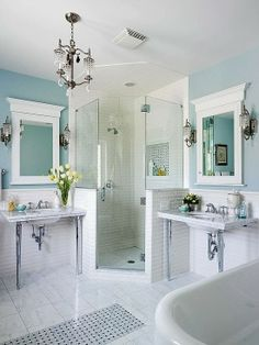 Beach Bathroom Decor Turquoise Accents White Towels And Tubs - Turquoise bathroom rug set for bathroom decorating ideas