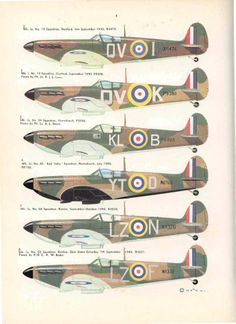 Battle of July - October Allied Aircraft: serviceable aircraft. Ww2 Aircraft, Fighter Aircraft, Military Aircraft, Spitfire Supermarine, The Spitfires, Hawker Hurricane, Aircraft Painting, Best Flights, Ww2 Planes