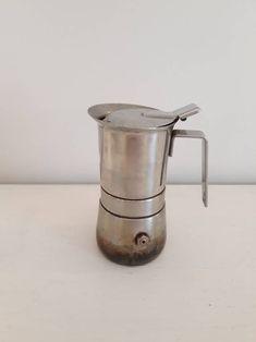 Vintage cafetière italienne cafetière cuisinière rétro | Etsy Espresso Maker, Coffee Maker, Machine Expresso, Italian Espresso, Retro Mode, Cafetiere, All Stainless Steel, My Etsy Shop, Unique Jewelry