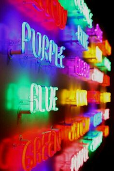 Neon, all the colours in a rainbow. World Of Color, Color Of Life, Neon Colors, Rainbow Colors, Neon Rainbow, Light Colors, Vibrant Colors, All Of The Lights, Neon Aesthetic