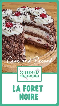 Cake Receipe, French Dessert Recipes, Pastry Cake, Chocolate Desserts, Sweet Recipes, Food To Make, Cake Decorating, Bakery, Food And Drink
