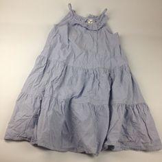6X Oshkosh B'Gosh Blue White Striped Sleeveless Sun Summer Beach Play Dress    #OshkoshBgosh #Dress #BeachDressyEverydayHolidayParty