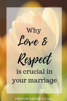 "Your marriage is important and it is important that you include love and respect as a top priority. You can go to marriage counseling or seek marriage advice from friends but including love and respect in your marriage will do so much good. It has helped my Christian marriage tremendously. ""aff link"""