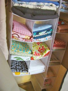 closet organizers for storing fabric
