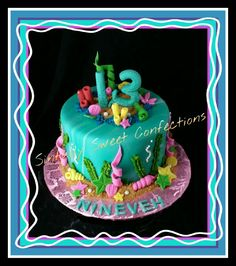 Little Mermaid Theme Birthday Cake