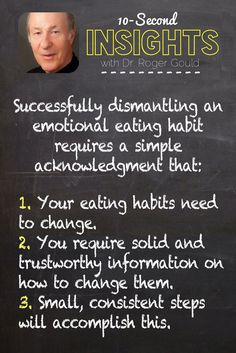 How to dismantle and emotional eating habit.
