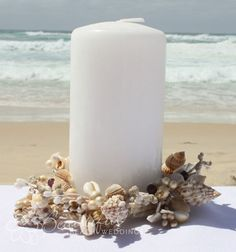 Reception Decoration :: Candle Holders :: Shell Candle Ring - Medium - The Beautiful Wedding Shop