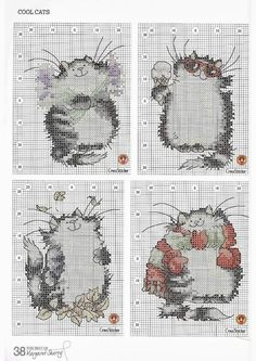 036 cats cross stitch