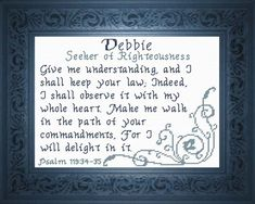 Suzanne - Name Blessings Personalized Cross Stitch Design from Joyful Expressions Embroidery Alphabet, Hand Embroidery Designs, Cross Stitch Designs, Cross Stitch Patterns, Family Poems, Numbers 6 24, Favorite Bible Verses, Names With Meaning, Gifts For Family