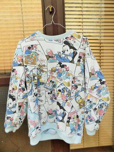 Retro Disney  Thermo Sweatshirt Print on both by lavirintArt