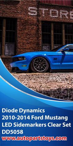 Set of Diode Dynamics Front and Rear Clear LED Side Marker Lights for all 2010, 2011, 2012, 2013 and 2014 Mustangs Are you looking to change the exterior appearance on your 2010-2014 Mustang? If so you might be interested in a Set of Diode Dynamics Front and Rear LED Side Marker Lights from CJ Pony Parts. Car essentials, classic cars, beautiful cars, Car decals, hot cars, luxury cars, Car accessories, Car interior accessories! #cars #mustang #diodeynamics #coolcars #cargadgets #autoparts