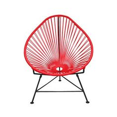 Innit Acapulco Baby Papasan Chair Weave Finish: Black, Weave Finish: Red