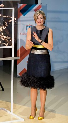 Queen Maxima of the Netherlands opens the headquarters office of StudyPortals on April 7, 2017 in Eindhoven, The Netherlands. Mission of S...