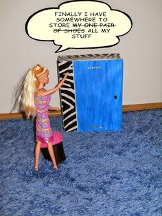 Barbie DIY furniture: a wardrobe fit for a fashionista