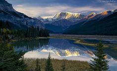 Jezioro, Góry, Odbicie- Piękne tapety na Twój pulpit.