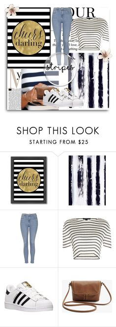 """Stripes"" by bogi-mali ❤ liked on Polyvore featuring Americanflat, Dot & Bo, Topshop, Alexander Wang, adidas, Pussycat, simple, stripes, casualoutfit and contestentry"