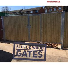 Steel & wood gates Wood Gates, Garage Doors, Projects To Try, Steel, Outdoor Decor, Home Decor, Wooden Gates, Decoration Home, Timber Gates
