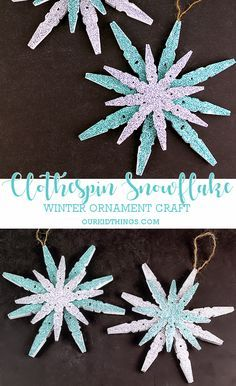 36 Creative Christmas clothes Pin Crafts and Ideas 2020 – Kunsthandwerk – Crafts Dıy 2020 Diy Christmas Fireplace, Diy Christmas Snowflakes, Snowflake Craft, Christmas Ornament Crafts, Christmas Crafts For Kids, Xmas Crafts, Craft Stick Crafts, Christmas Diy, Popsicle Stick Snowflake