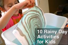 10 Rainy Day Activities for Kids -- What are some of your best tips to keep the kiddos occupied on rainy days?? #parenting