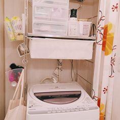 100均/機能性重視/洗濯機ラック/ステンレスユニットシェルフ/無印良品…などのインテリア実例 - 2016-10-03 01:08:35 | RoomClip(ルームクリップ)