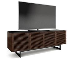 BDI Corridor Stained Walnut TV stand and media cabinet with slatted wooden doors Home Theater Furniture, Media Furniture, Home Furniture, Furniture Stores, Furniture Ideas, Bedroom Furniture, Walnut Tv Stand, Console Tv, Console Tables