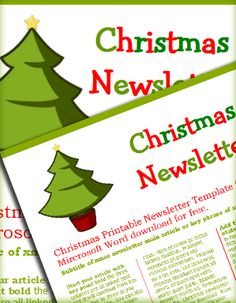 several free Christmas letter templates