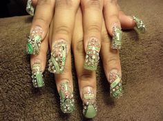 Crazy nail designs money crazy nail designs nail art nail art from the nails magazine nail art gallery acrylic money prinsesfo Images