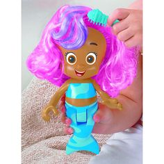 Fisher-Price Bubble Guppies Magic Hair Molly Bath Doll