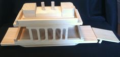 Handcrafted Wooden Toy Ferry Boat