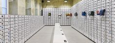 Freitag store in Vienna Retail Interior, Interior And Exterior, Interior Design, Best Messenger, Messenger Bags, Retail Architecture, Retail Signage, Store Fixtures, Light And Space