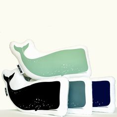 whale plush . organic . navy whale pillow animal by birdmafia