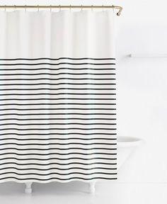 kate spade new york Harbour Stripe Shower Curtain - Extra Long Shower Curtain - SLP - Macy's