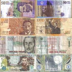 Convivencia: a life chapter in Colombia: ¿Cuanto Cuesta? The Cost of Living in Bogotá The Color Of Money, Show Me The Money, Colombian Culture, Colombia South America, Canadian Coins, Notes Design, World Coins, Around The Worlds, History