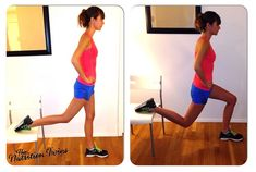 Want a tight, toned booty?   This is the exercise for you!   One Legged Lunges!   For MORE exercises and HEALTHY, DELICIOUS RECIPES, please sign up for our FREE NEWSLETTER www.NutritionTwins.com