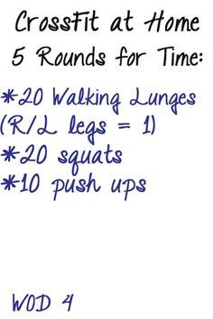 Can't make it to the gym? Do this 15 mins. crossfit exercise to burn some quick calories. Rest for 30-45 seconds between rounds.