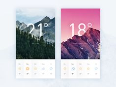A weather screen exercise.  Hope u enjoy that  Nice UI and play with picture