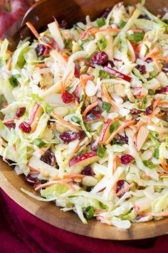Easy Almond Cranberry Coleslaw. Daily Simple Recipes For Everyone