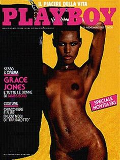 Playboy Italy November 1985  with Grace Jones on the cover of the magazine