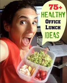 75 Healthy Office Lunch Ideas you are going to LOVE! Start packing healthy office lunches. Save money, waste less, and eat healthier!
