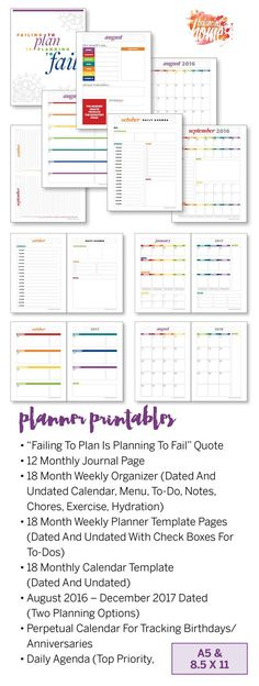 10 Fabulous and Totally Free Planner Printables Free printable