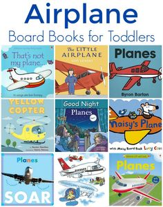 Airplane Board Books for Toddlers + Aviation Study Unit Activities