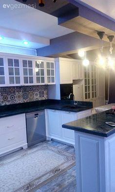 Beyaz mutfak, Tezgah arası seramik, Country mutfak