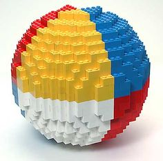 """DIY : LEGO Sphere Sculpture - If you ♥ LEGO, come have a look at LEGO LOVE board http://pinterest.com/almaisoncloud9/lego-love/ - I am the French-Israeli designer of """"Mademoiselle Alma"""". Inspired by my daughter, ALMA, I create Jewelry made from LEGO bricks, SWAROVSKI crystals and of course, a great amount of imagination. ***   http://www.facebook.com/MademoiselleAlma  Hope you LIKE my Facebook page-shop ♥ &  http://www.etsy.com/shop/MademoiselleAlma #LEGO"""