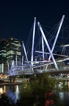 Longest tensegrity bridge - Brisbane - by Cox Rayner and Arup