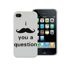 Gadget Zoo I Moustache You A Question Iphone 5 5G Case Funny Hard Back Mustache Cover From Gadget Zoo ** You can get additional details at the image link. (Note:Amazon affiliate link) #CellPhonesAccessories