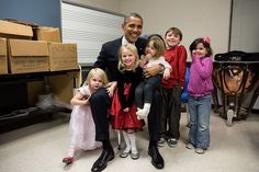 Image result for pictures of Obama with kids