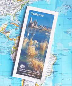 CALIFORNIA VINTAGE MAP  Detailed Maps and by BunnysLuck on Etsy